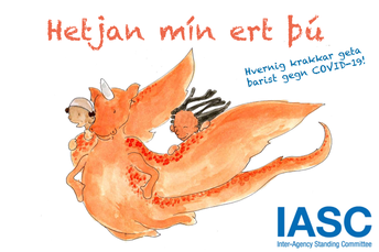 Hetjan mín ert þú - barnabók um COVID19/My Hero Is You - childrens's book on COVID19