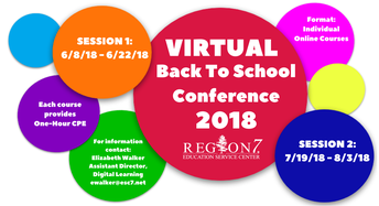 Region 7 Virtual Back-to-School Conference--June 8-Aug. 3