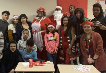 Fifty-five Hearne Elementary School students received gifts through Taylor High School's Adopt-A-Kid Program.
