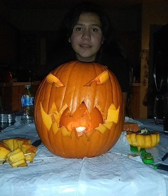 Pumpkin Carving (By: Alexandra Gonzales at TCMS)