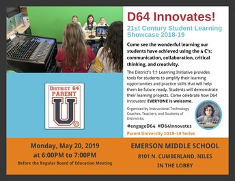 D64 University Tech Showcase Flyer