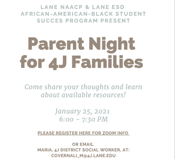 4J Parent Night