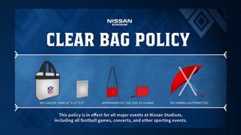 Clear bag policy for event days