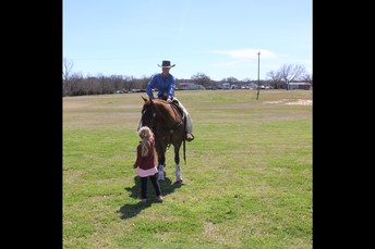 Students got to get up close with the horses.