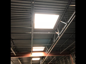 Skylights in the Commons area