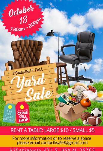 BCCA Yard Sale, Oct 18 (Sunday)