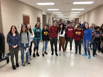 Ms. Carman's Connections stops for pic while searching for next clue