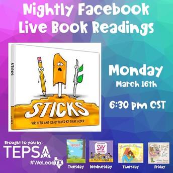 TEPSA Nightly Online Book Readings