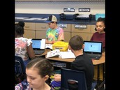 5th Graders Working in Google Classroom