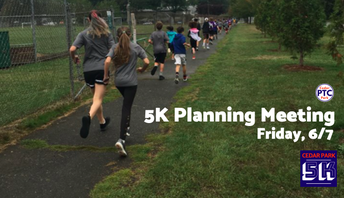 2019 5K Planning Meeting Scheduled for 6/7