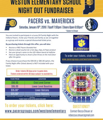 Pacers Night for Weston