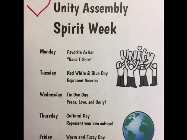 Unity Assembly Spirit Week