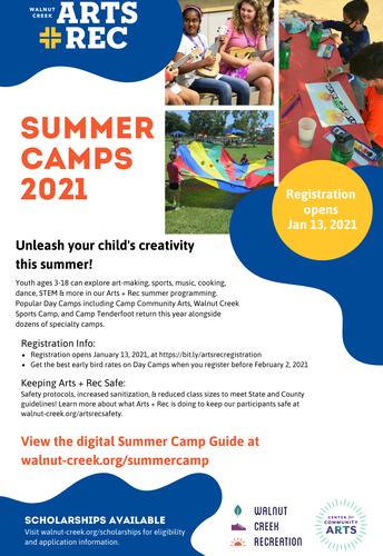 Summer Camp 2021 Registration Opens Soon!
