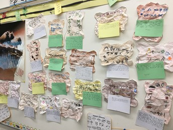 Grade Four Students Created Symbol Stories on Hides