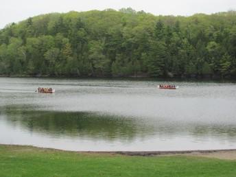 Canoeing on Gould Lake