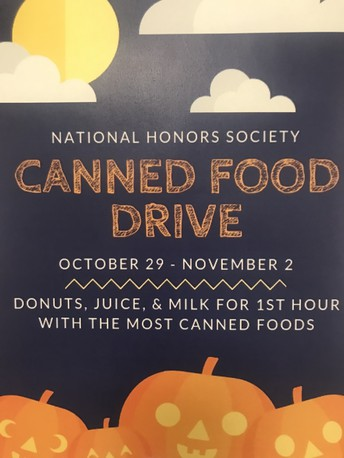 NHS Canned Food Drive!