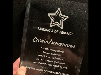 Carrie Lienemann honored with the Making A Difference award.