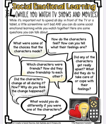 Social Emotional Learning with TV!