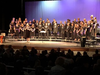 Choir performing at the Spring Concert