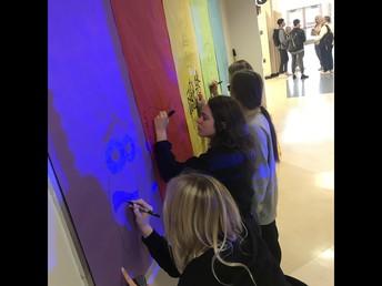 Student Government hallway prep