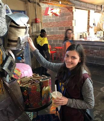 Shopping at  Chesea Market.