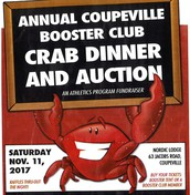 ANNUAL COUPEVILLE BOOSTER CLUB CRAB DINNER AND AUCTION