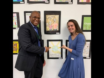 Erica Morton, 3rd Place in Choose Civility Poster Contest