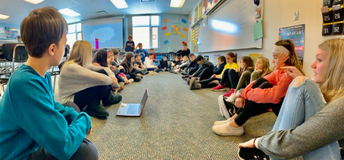 Student discussions in 6th grade