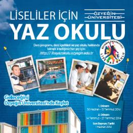 Özyeğin Üniversitesi Lise Yaz Okulu