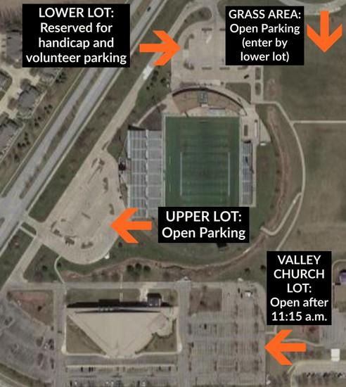 Valley Stadium parking guidelines