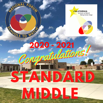 Standard Middle Honored as a California School to Watch