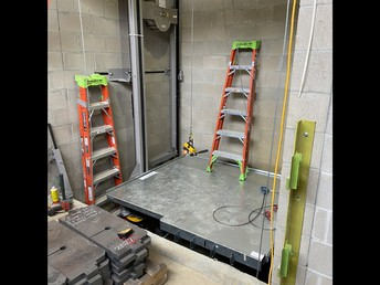 The elevator being installed!