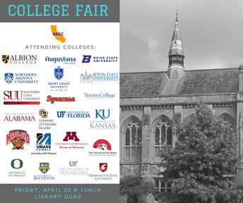 College Fair - April 20
