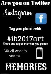 Trend with us on Social Media - #ib2017art