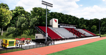 Greenwich High School Cardinal Stadium Construction Rendering