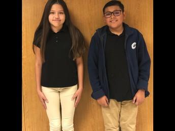 Elizabeth Castillo-Sanchez and Jayden Rodriguez