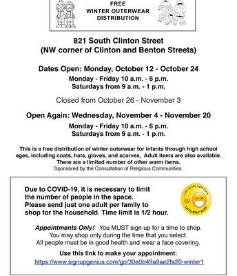 Free Winter Outerwear Distribution