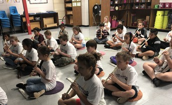 Recorders in Music Class