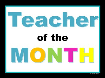 Congratulations to Mr. Lubman for being elected September Teacher of the Month!
