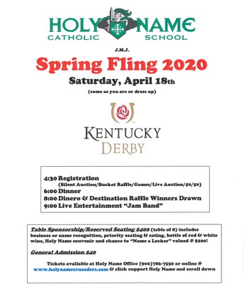 Spring Fling Dinner Tickets - on sale now!