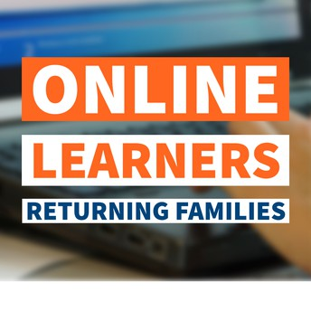 online learners returning families graphic