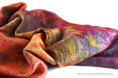 Experimental silk painting and felting