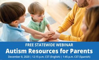 Autism Resources for Parents Webinar