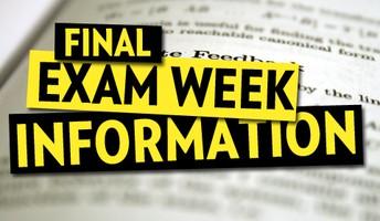 2018-2019 Final Exam Dates
