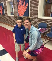 Hagan Smith and Mrs. Weaver celebrate September recognition!