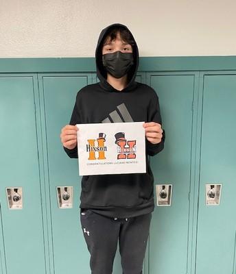 Luciano Montes (8th grade) - Contest Winner