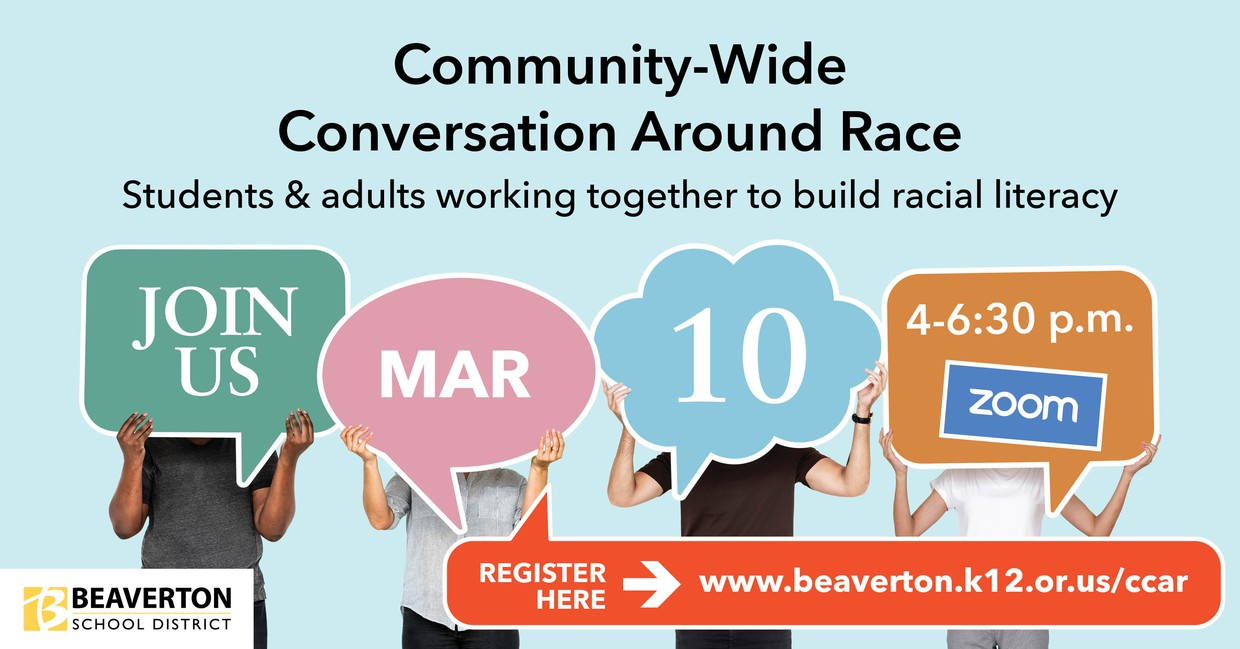 Community Conversations Around Race Graphic with details