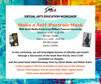 Library offers virtual arts education workshop