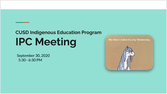 Indigenous Parent Committee Meeting