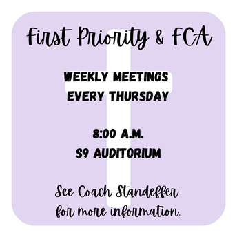 First Priority and Fellowship of Christian Athletes (FCA)